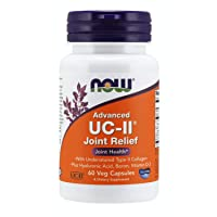 NOW Supplements, UC-II Advanced Joint Relief with Undenatured Type II Collagen, plus Hyaluronic Acid, Boron, Vitamin D-3, 60 Veg Capsules