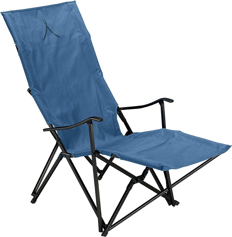 Grand Canyon EL Tovar Lounger – Chaise de camping, chaise pliante avec accoudoirs, dossier haut et repose pieds – jusqu'à 100 kg – Aluminium