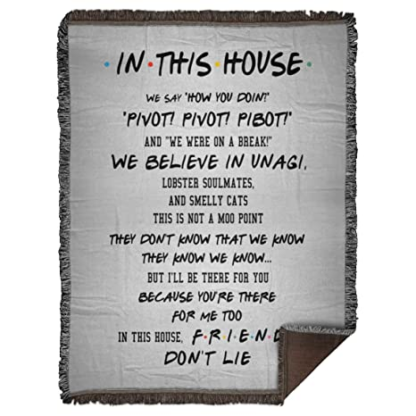 Amazon.com: Fun in This House Friends Quotes Meme Saying Don ...