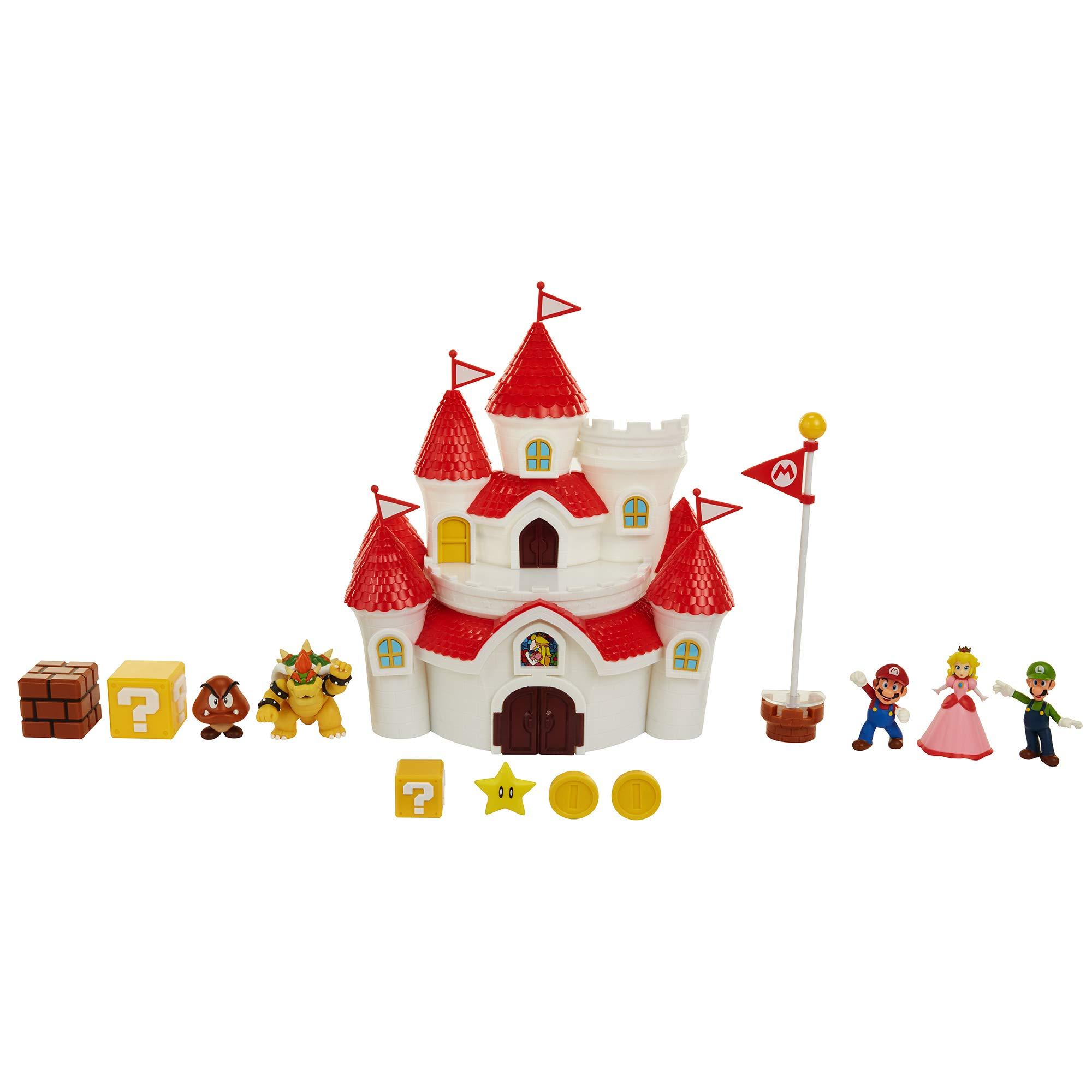 Nintendo Super Mario Deluxe Mushroom Kingdom Castle Playset with 5 Figures & 4 Accessories by Nintendo (Image #2)