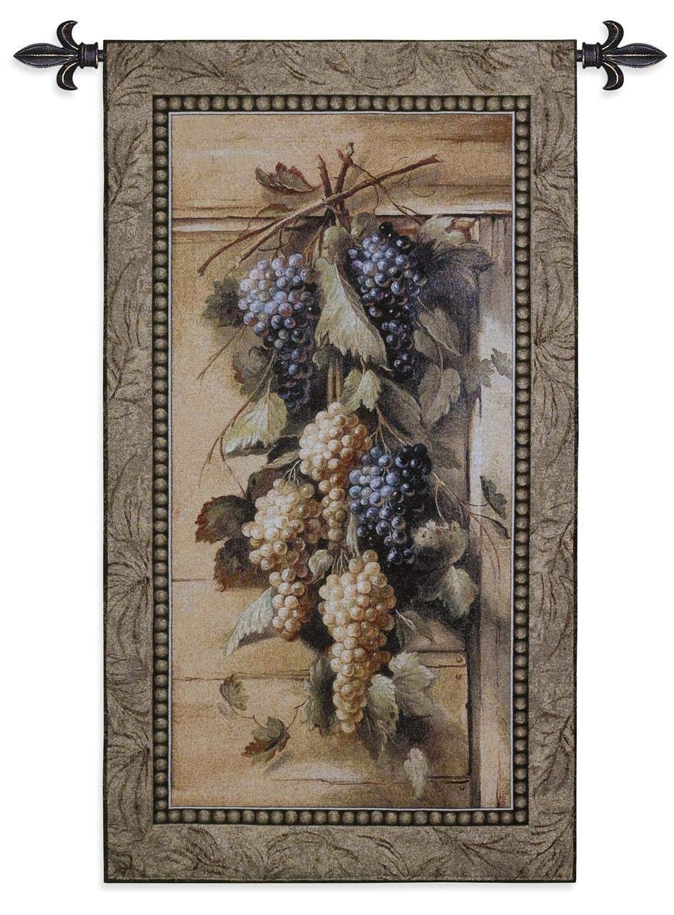 Fine Art Tapestries ''Poetic Grapes'' Wall Tapestry