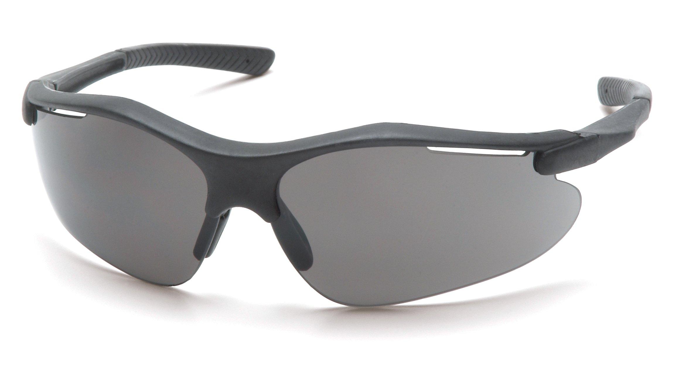 Pyramex Fortress Safety Eyewear, Gray Lens With Black Frame