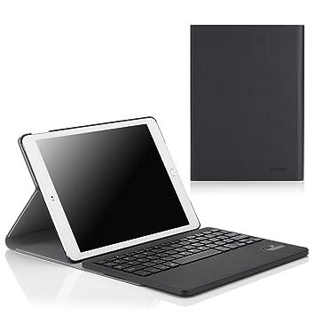 1bae73a7866 MoKo Apple iPad Air 2 (iPad 6) Keyboard Case - Wireless Bluetooth Keyboard  Cover Case for Apple iPad Air 2 (iPad 6) 9.7 Inch iOS 8 Tablet, BLACK - Buy  MoKo ...