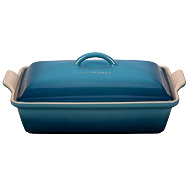 Le Creuset Heritage Stoneware 12-by-9-Inch Rectangular Dish, Marine