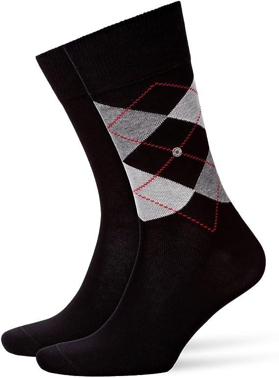 BURLINGTON Herren Socken Argyle Organic Einheitsgr/ö/ße 1 Paar Farben 80/% Baumwolle 40-46 Versch - Klassischer Herrenstrumpf aus nachhaltigen Garnen mit Rautenmuster