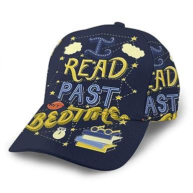 Liliylove I Read Past My Bedtime Gorra de béisbol Ajustable para ...