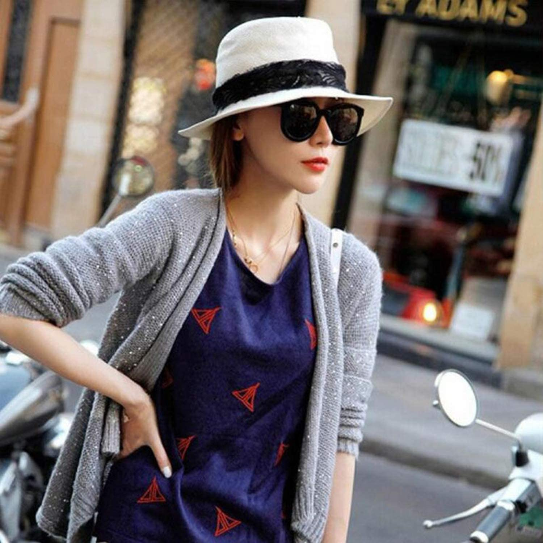 Summer Floppy Straw Beach Sun Hats for Women,Beach Headwear,Wide Brim Panama Hat,Chapeau