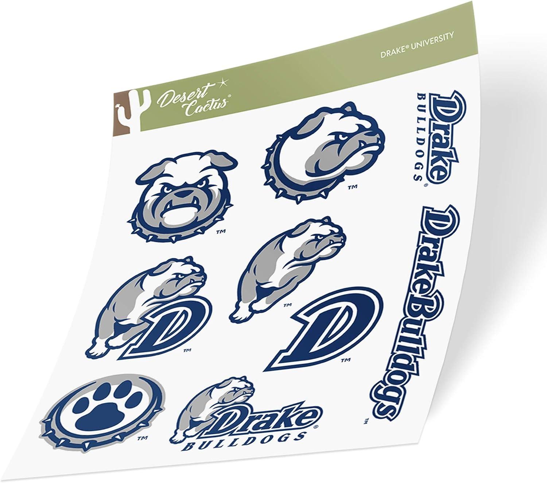 Drake University Bulldogs NCAA Sticker Vinyl Decal Laptop Water Bottle Car Scrapbook (Type 2 Sheet)