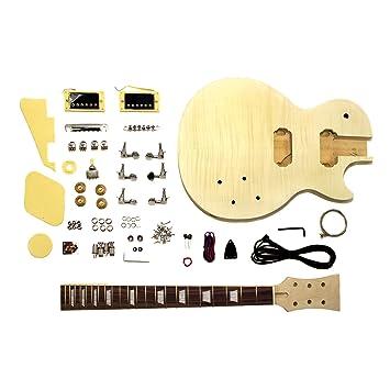 GK-SLPP-380 E-Gitarre Bausatz mit geflammter Ahorn Decke: Amazon ...