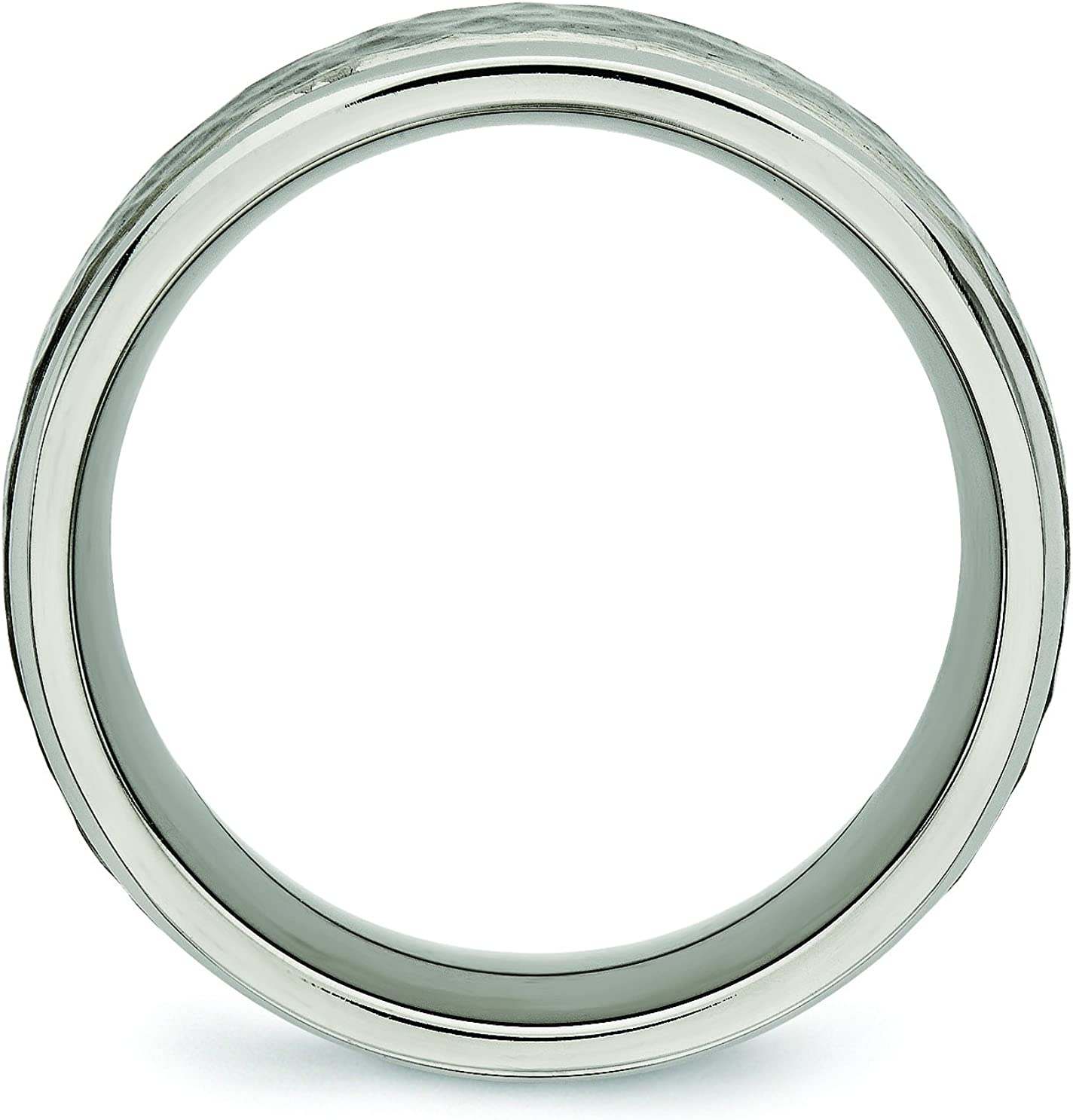 Titanium 8 mm Polished Grooved Wedding Ring Fine Jewelry Ideal Gifts For Women