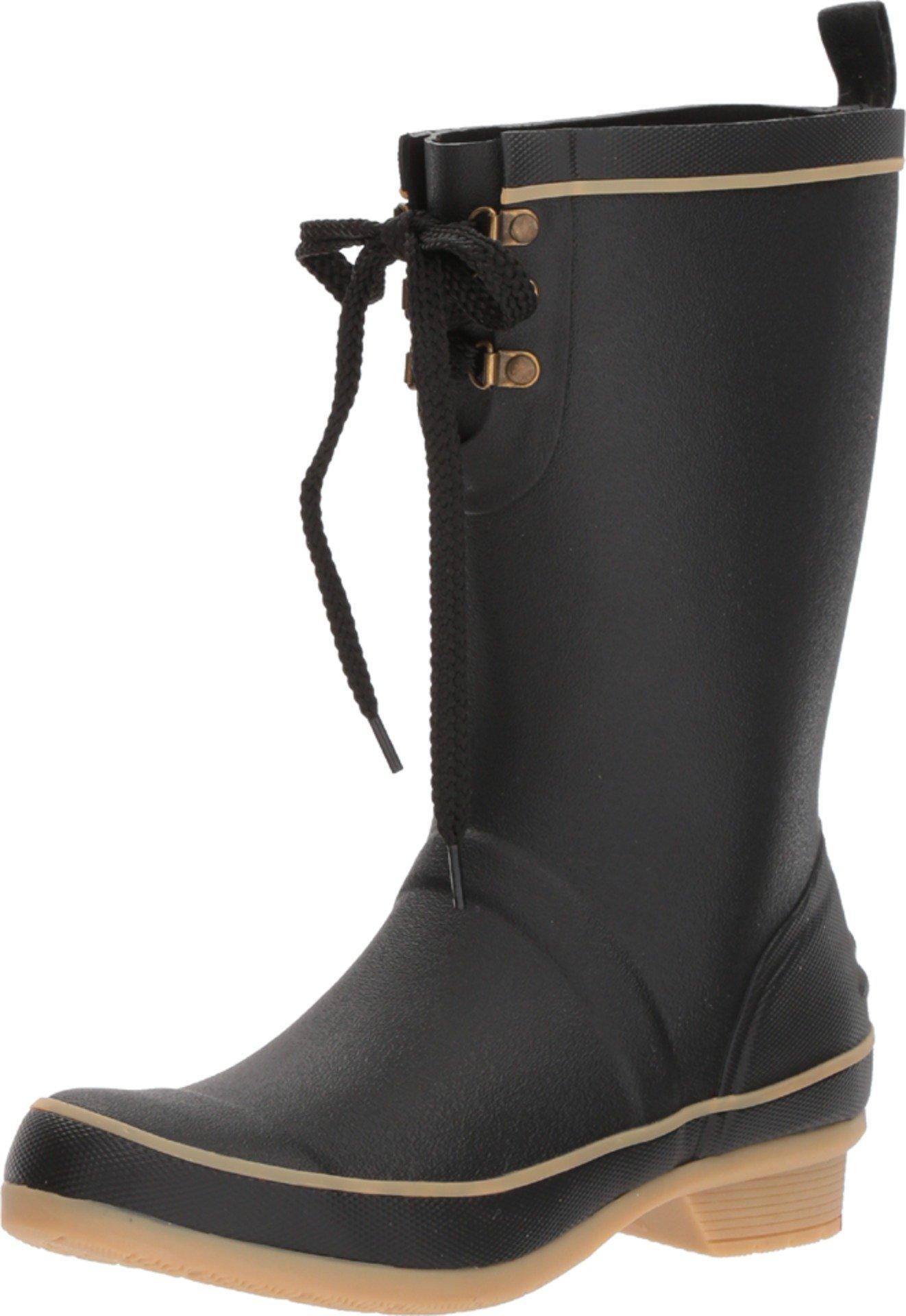 Chooka Women's Whidbey Rain Boots Black 9 M US