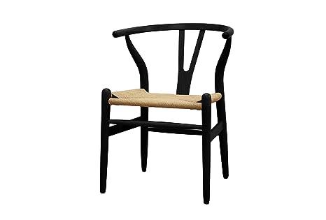 Amazon.com: Baxton Studio Madera Wishbone y silla, Madera ...