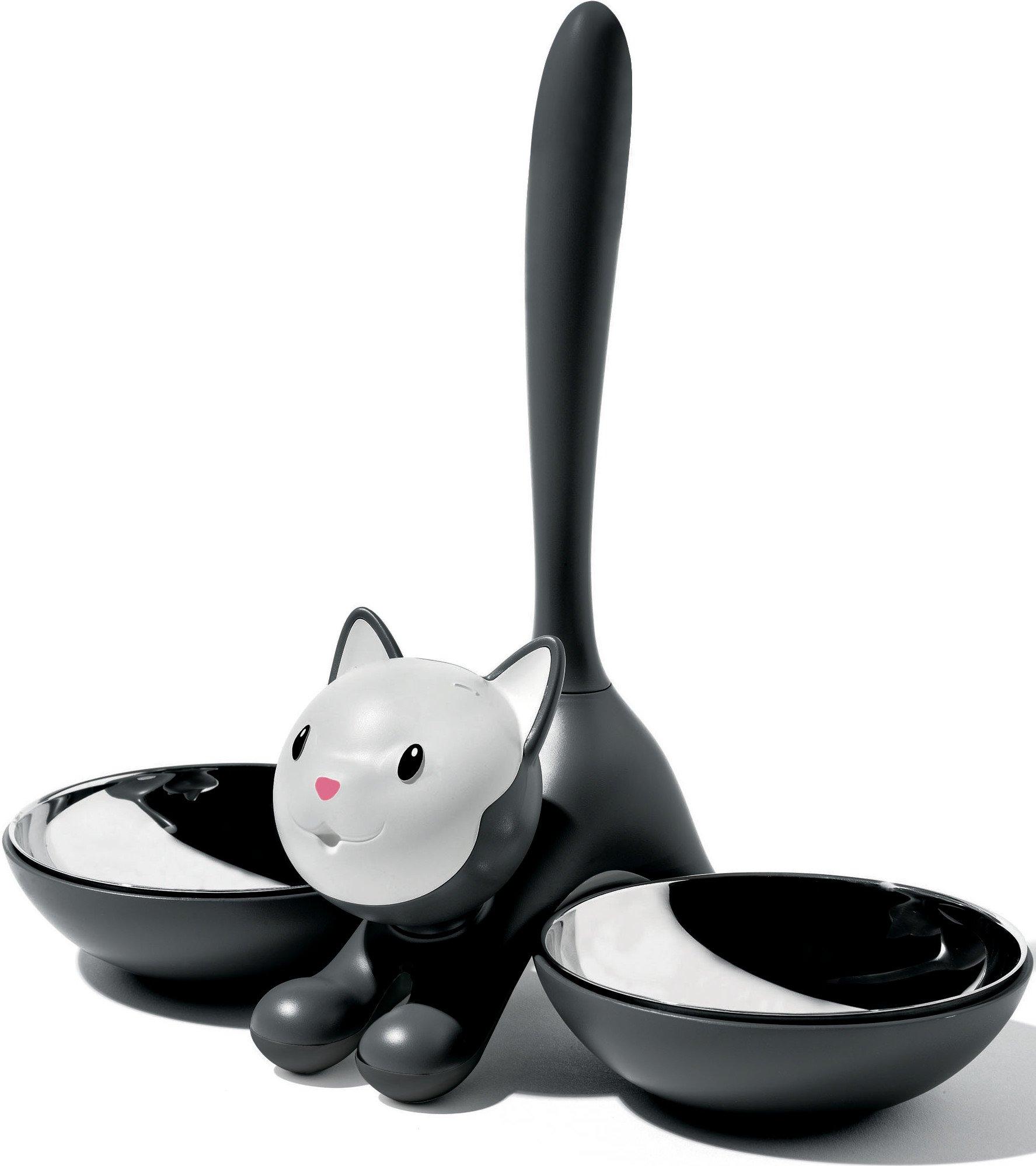 Alessi AMMI09 B Tigrito Cat Bowl, Black, Black