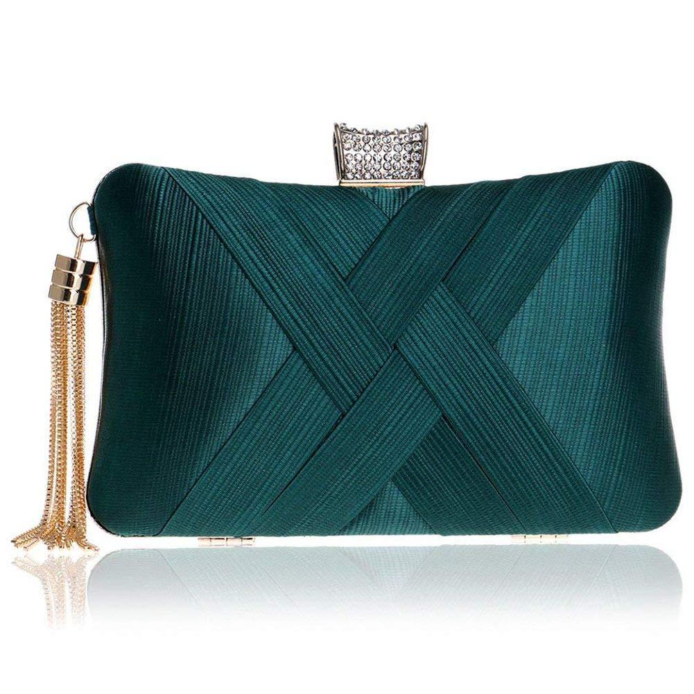 Women's Elegant Tassel Velvet Party Clutch Bags