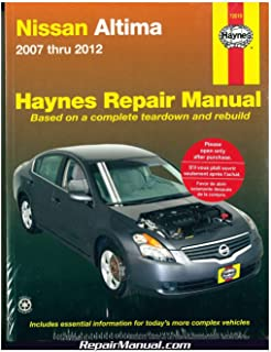 nissan altima 2007 2012 repair manual haynes repair manual rh amazon com 2007 nissan altima owners manual pdf 02 Nissan Altima