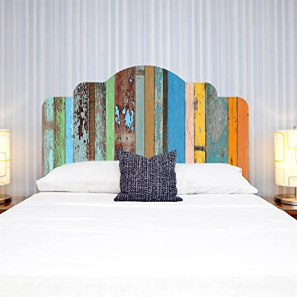 Amazon.com: Headboard Wall Decal Headboard Dorm Decor 3D Colorful ...