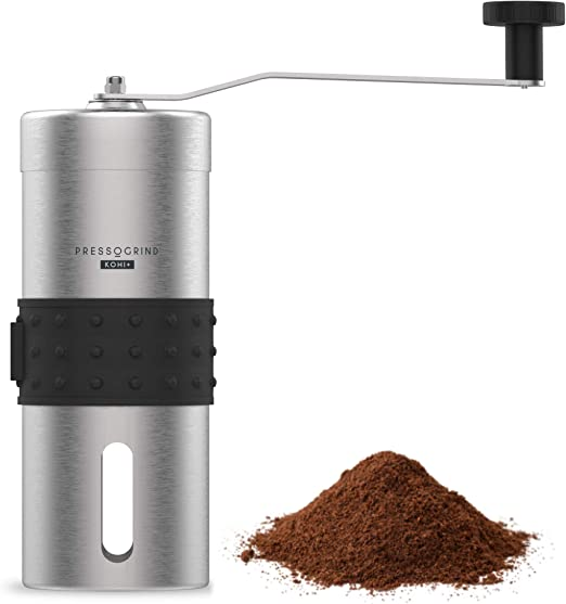 Manual Coffee Bean Grinder Mill Hand Grinding Kitchen Travel Tool Red