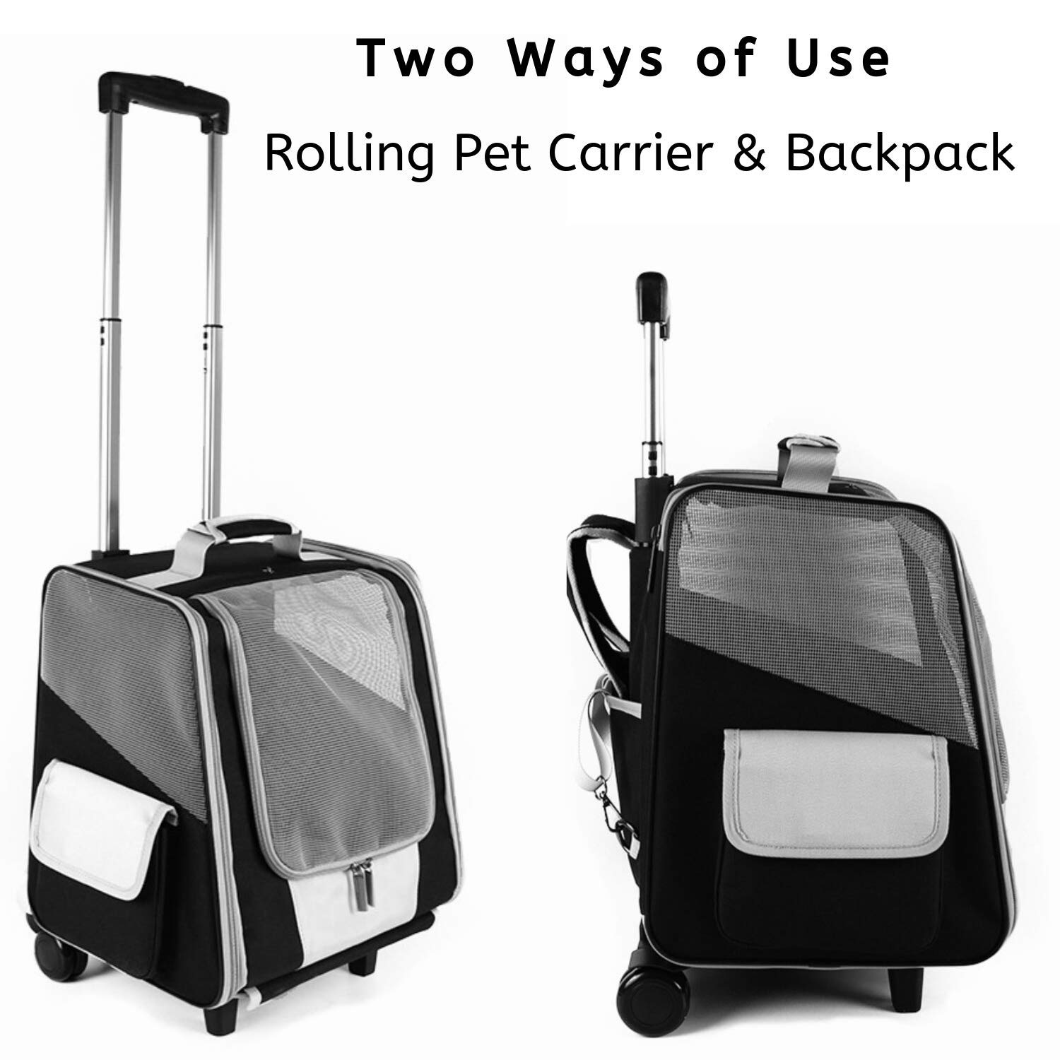 Lollimeow Pet Carrier Backpack for Dogs and Cats,Puppies,Fully Ventilated Mesh,Airline Approved,Designed for Travel, Hiking, Walking Outdoor Use