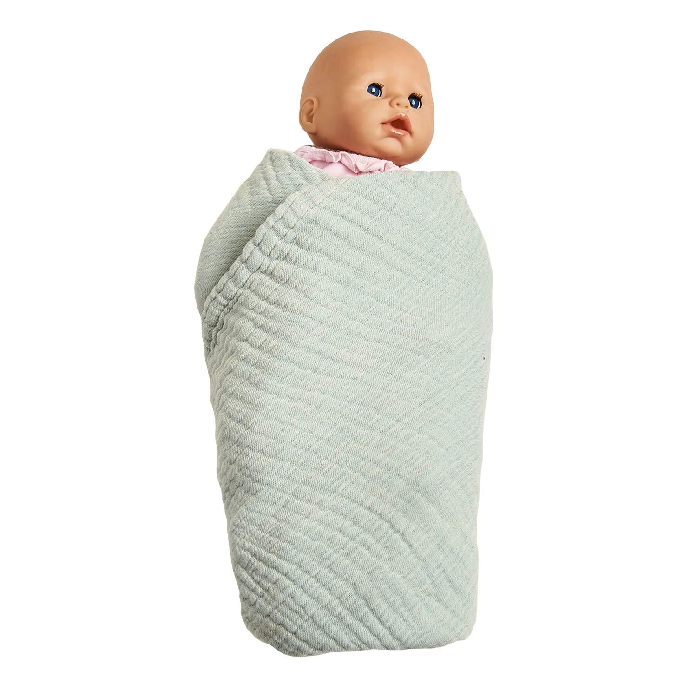 Babydecke Junge /& Puckdecke Baby Musselin Decke in Baby Blau von nordic coast Ideal als Spuckt/ücher Jungen 4 in 1 Musselin Baumwolltuch 80x80cm