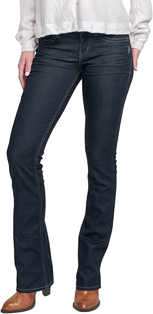 Womens Suki Curvy Fit Mid Rise Slim Bootcut Jeans