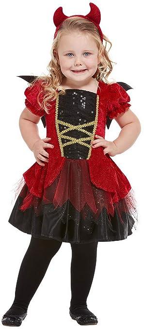 Halloween enia – Disfraz de diablesa para niña, Vestido de alas y ...