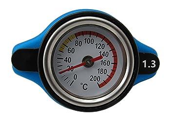 Tapón térmico universal para radiador de coche con medidor de la temperatura del agua de 1,3 bares: Amazon.es: Coche y moto