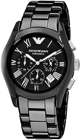 on sale a6327 524b5 [EMPORIO ARMANI(エンポリオ アルマーニ)] セラミカ メンズ 腕時計 ブラック AR1400 [並行輸入品]