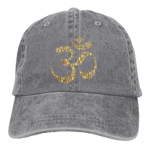 4194fb79542 Baseball-caps MOLLYY Golden Om Symbol Circles Unisex Fashion Painting  Snapback Adjustable Hip-Hop