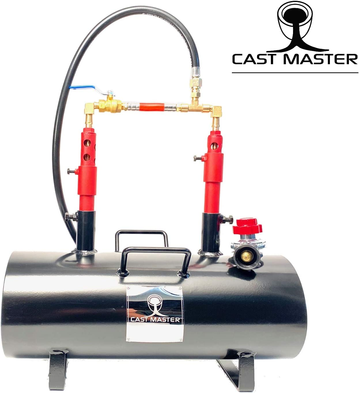 CAST Master Elite USA Portable Double Burner Propane Blacksmith Farrier Caster Kit Jewelry Large Capacity Knife and Tool Making Propane Forge SS