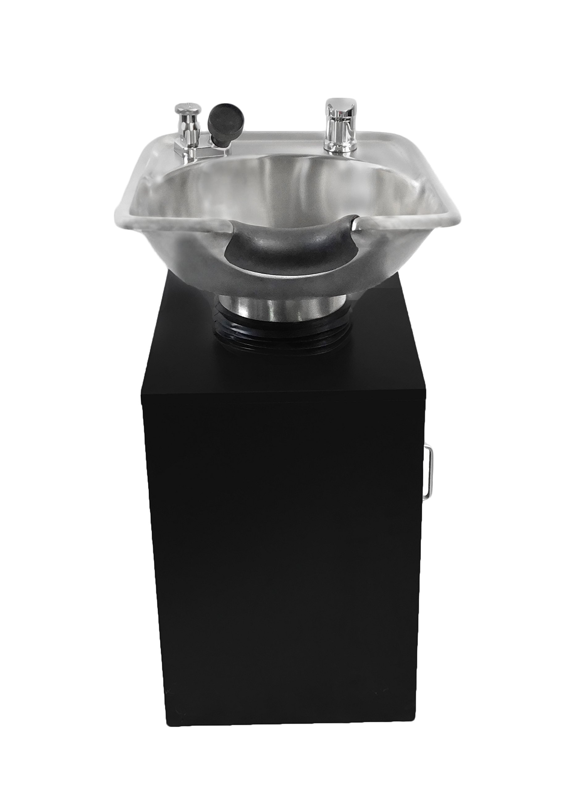 TILTING Brushed Stainless Steel Salon Shampoo Bowl with Black Cabinet Spa Equipment TLC-1567Tilt-C by eMark Beauty (Image #2)