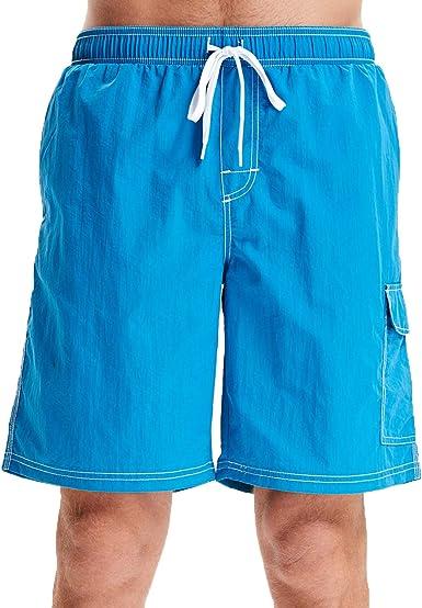 CLPPLI Mens Swim Trunks Quick Dry Beach Shorts
