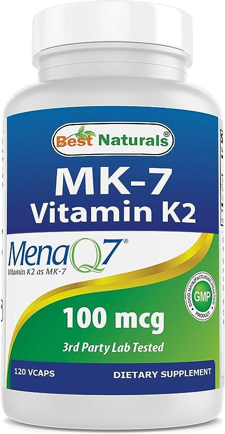Amazon Com Best Naturals Mk 7 Vitamin K2 100 Mcg 120 Vcaps Health Personal Care