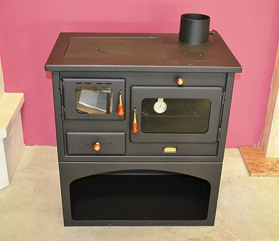 PRITY 1 Estufa de leña 10 kW de hierro fundido, calidad superior: Amazon.es: Bricolaje y herramientas