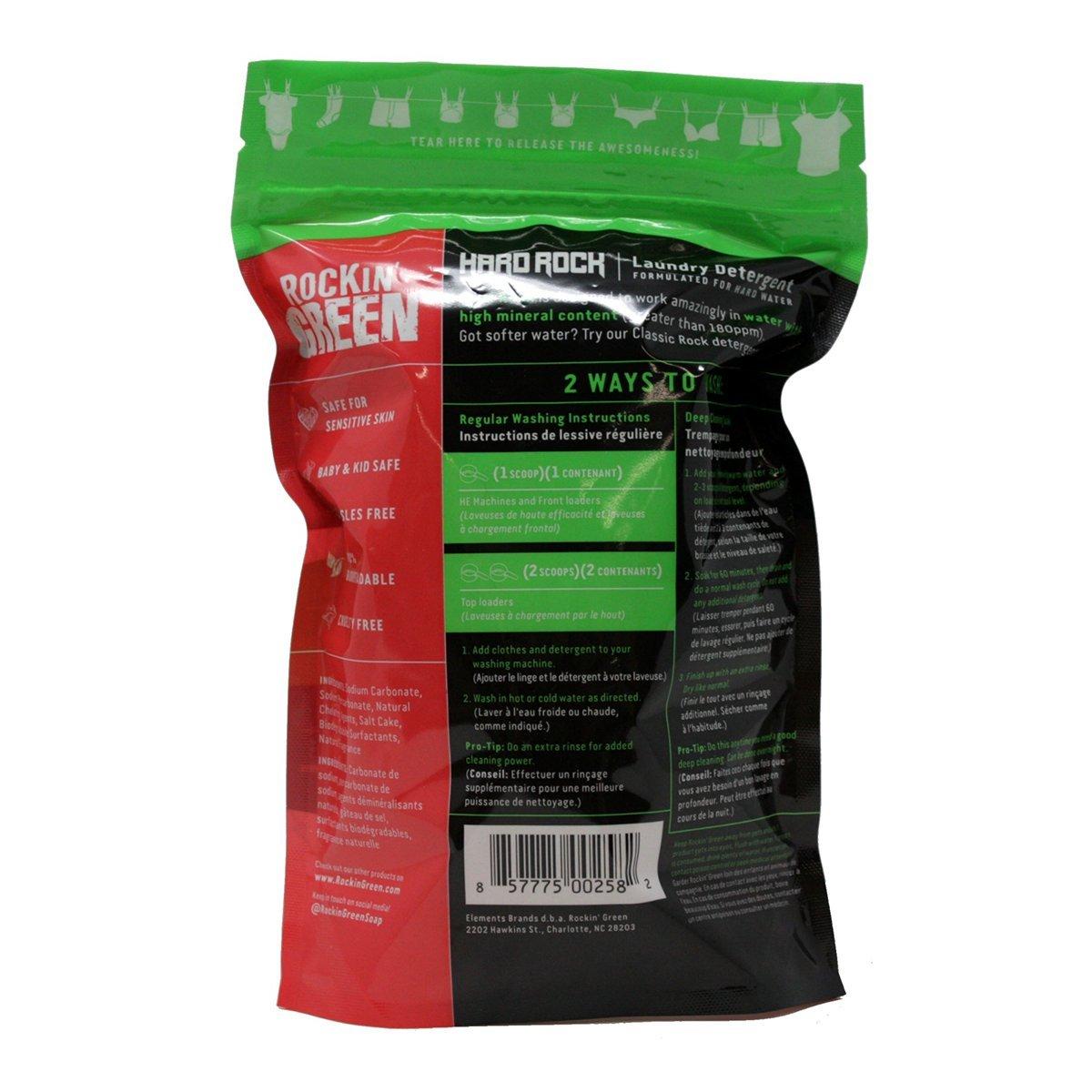 Rockin Green - Hard Rock Remix detergente de lavandería romper sandías - 45 oz.: Amazon.es: Hogar