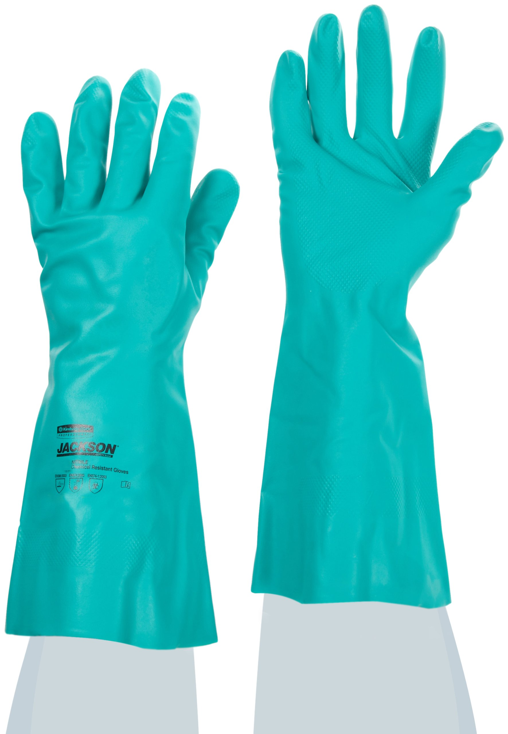 Jackson Safety G80 Nitrile Glove, Chemical Resistant, 15 mil Thickness, 13'' Length, 2X-Large, Green (Case of 60 Pairs)