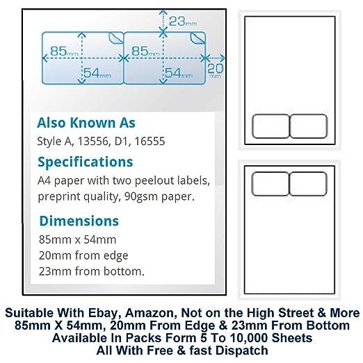 A4 embalaje de factura etiquetas adhesivas etiqueta ...