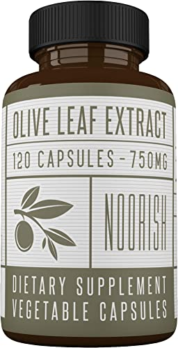 Olive Leaf Extract Capsules Non-GMO Super Strength 20 Oleuropein – 750mg – Immune Support and Antioxidant Supplement 120 Capsules