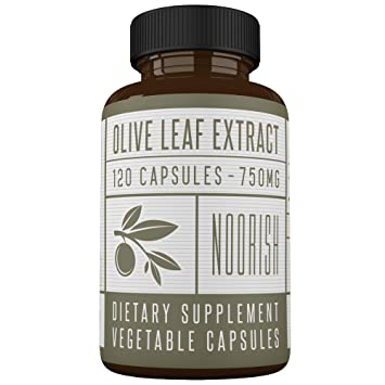 Olive Leaf Extract Capsules (Non-GMO) Super Strength: 20% Oleuropein -  750mg - Immune Support and