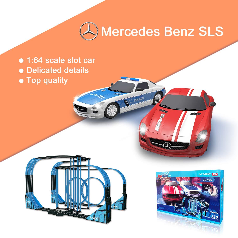 Sky Racer Slot car Race Set TR-40L 1:64 Scale