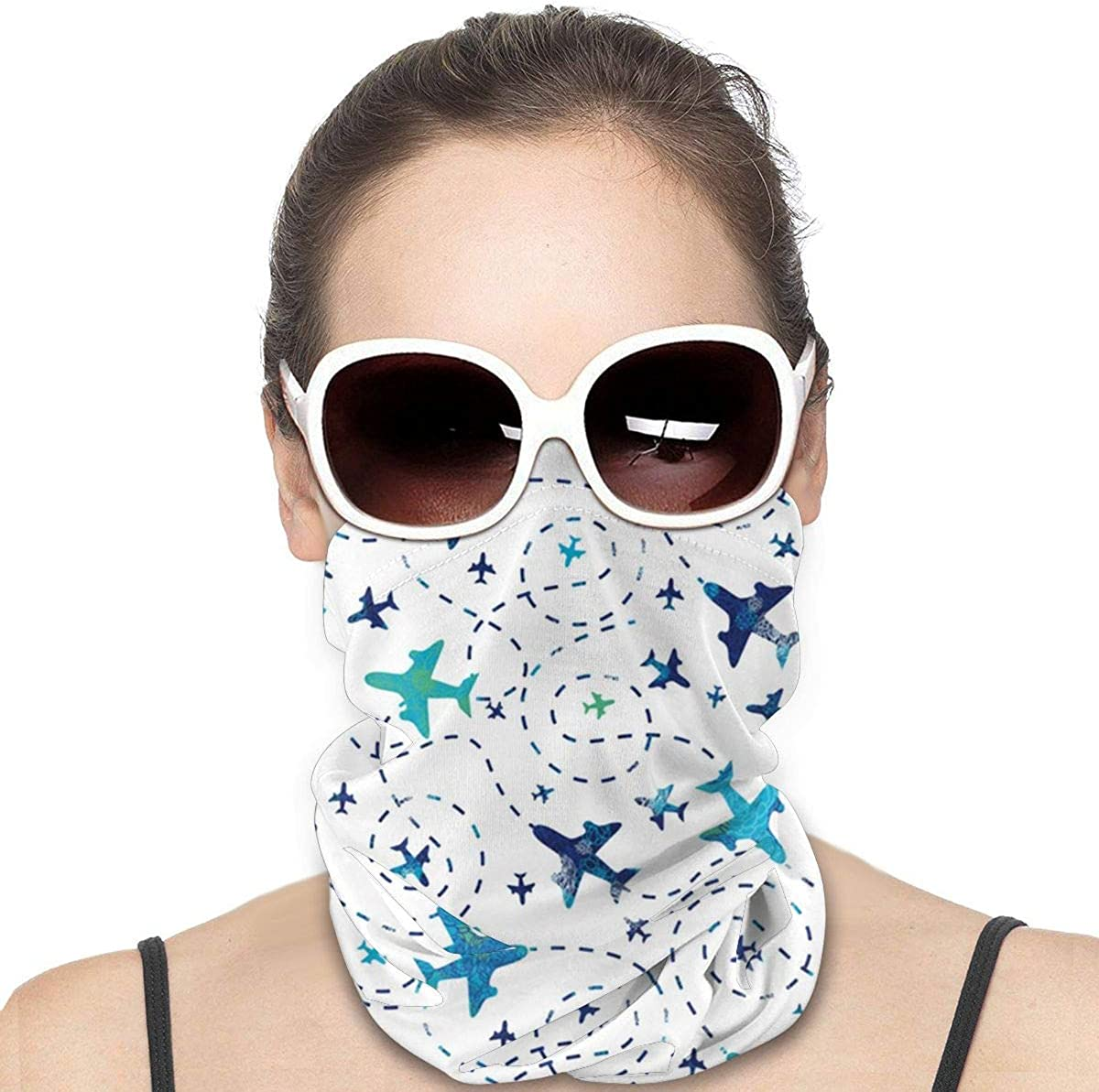 Cherry Blossom Neck Warmer Bandana Balaclava Scarf Mask Beanie Ski Headwear Elastic Breathable Cycling