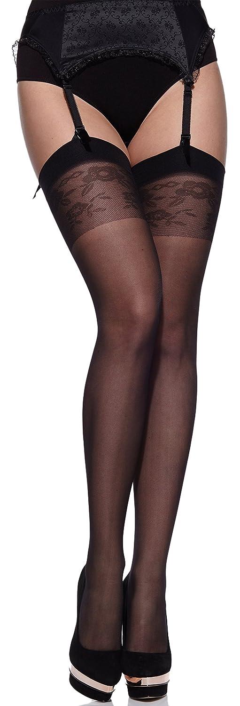Merry Style Donna Calze Autoreggenti Plus Size MS 167 20 DEN XL/XXL (46-54))