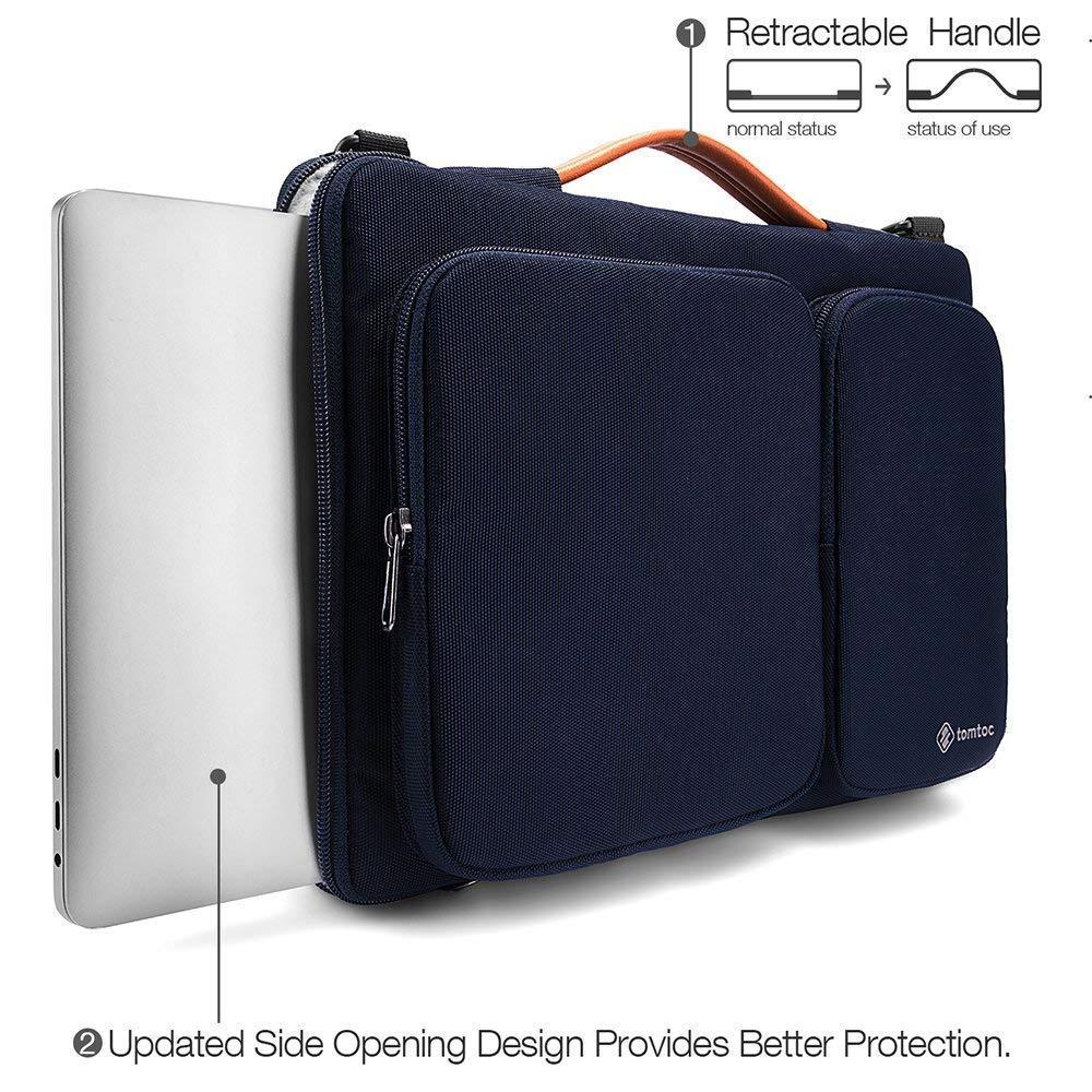 A1990 /& A1707 tomtoc 【14 Pouces】 Sacoche Ordinateur Portable pour 15 Pouces Nouveau MacBook Pro Touch Bar Housse Sac /à Bandouli/ère pour 14 Pouces Chrombook Tablettes