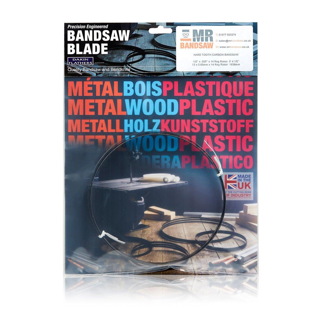 56 1//8 x 1//4 x .014 x 24 Reg Wavy Bandsaw Blade