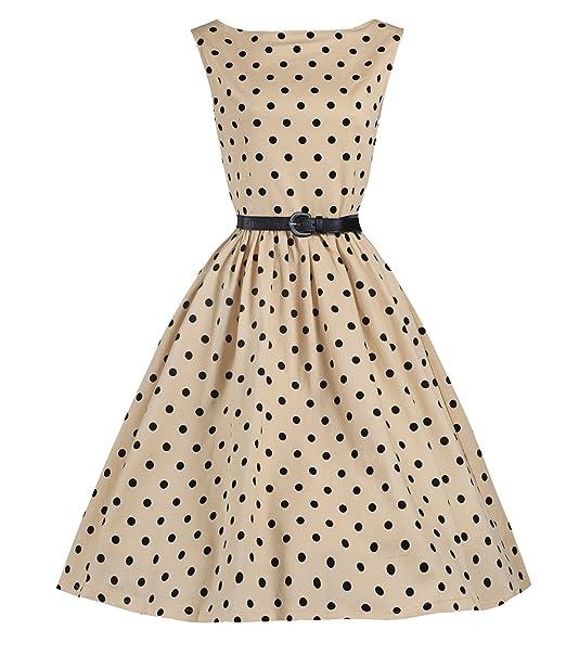 E Support Donna KB Rosso Abito stile Vintage Anni 50s