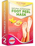 Foot Peel Mask to Exfoliate Dead Skin - 2 Pairs of Baby Foot Peeling Mask for Callus Removal, Dead Skin and Cracked Heel Treatment – Natural Foot Care Scrub Booties to Get Baby Soft Feet in 7 Days