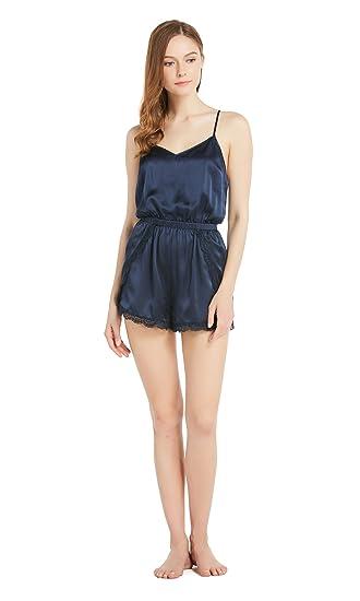 818c3b46e4 LILYSILK Women s Silk Pyjama Shorts Camisole Set One Piece Onesies Ladies  Sleepwear 22 Momme Pure Silk