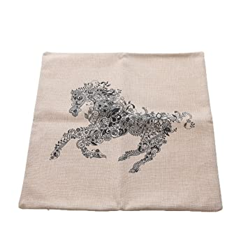 DIY Art Colouring Pillow Cover, Horse Design - ideal indoor ...