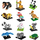 FUN LITTLE TOYS Party Favors for Kids, Mini Animals Building Blocks Sets for Goodie Bags, Prizes, Birthday Gifts, 12 Boxes