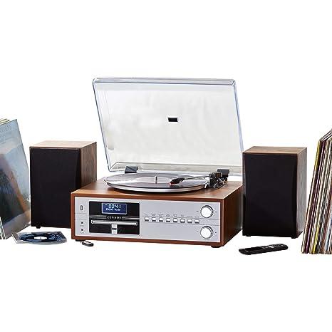 Black soundmaster ClassicLine MCD1700 HiFi System CD Radio Record Player Turntable