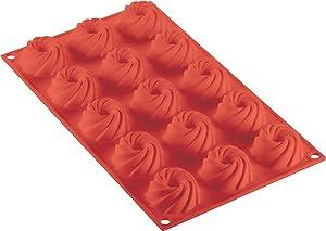 Silikomart Professional SF310 Silicone Mold, Swirl 1.87 Inch Diameter x 0.79 Inch High